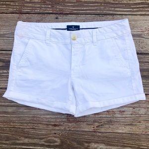 White AE Jean Shorts